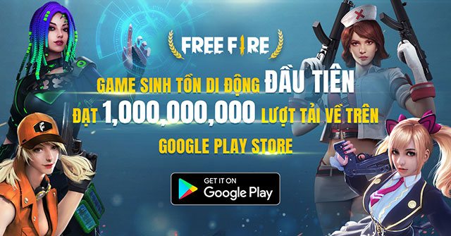 Garena Free Fire trở thành game sinh tồn di động đầu tiên đạt 1 tỉ lượt download trên Google Play Store