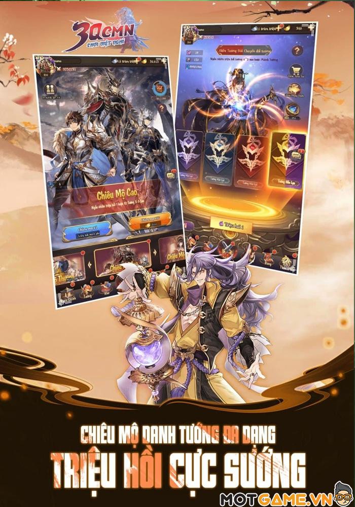 3Q CMN - Game thẻ tướng Tam Quốc phong cách nhàn rỗi