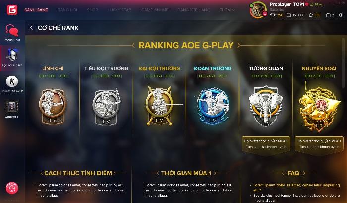 GPlay chính thức ra mắt phiên bản AoE Ranking Beta test