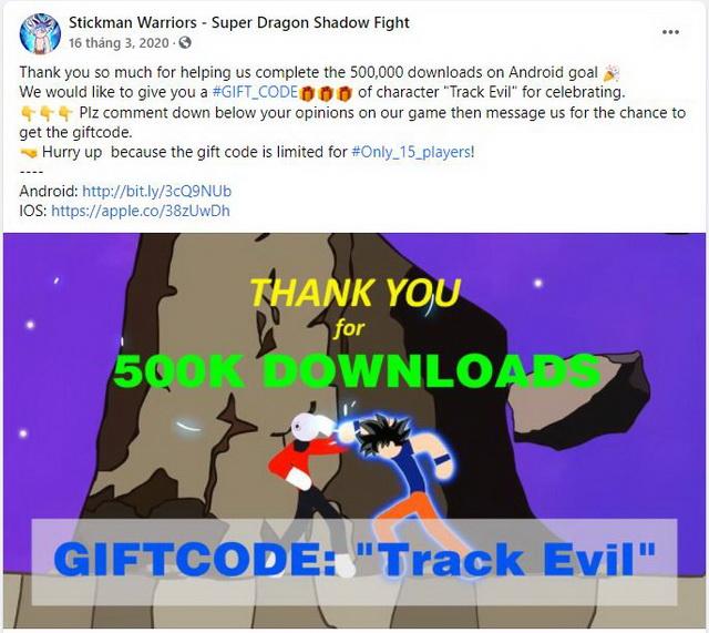 giftcode Stickman Warriors